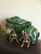 Teenage Mutant Ninja Turtles TMNT Party Wagon Vehicle Figure Truck Toy 3 Figures