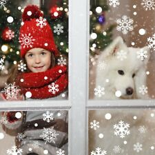 Christmas Snowflake Window Clings Sticker Winter Wall Decal Stickers Decor 48*