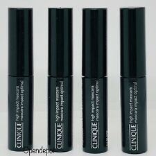 Lot of 4 Clinique High Impact Mascara Black 01 Travel Sized 4 x 3.5ml New