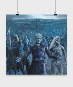 NEW Game of Thrones Poster The Night King and White Walker Horde Beyond The Wall