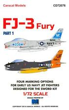 Caracal Decals 1/72 NORTH AMERICAN FJ-3 U.S. Navy Jet Fighter Part 1
