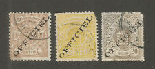 Luxembourg 3 Early Used Official Issues Scott Cat Type A2 or A3 1-Sound 2 Faulty