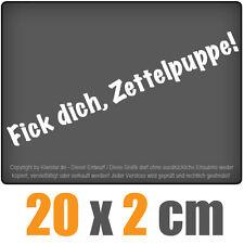 Fick dich, Zettelpuppe 20 x 2 cm JDM Decal Sticker Auto Car Weiß Scheibenaufkleb