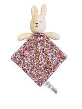 Little Nutmeg Bunny Rabbit Baby Comforter Pink Floral Soft Hug Toy Blankie