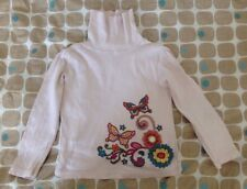 Palomino Girl's Pink Polo Neck Top Size EU 104cm Age 3 Years