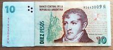 Billet de banque USED XF  Argentine 10 Pesos   , plis , fold AR47