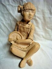 "ADORABLE ""Little Baking Girl"" Large Sculpture / Statue # 910 - Made in USA"