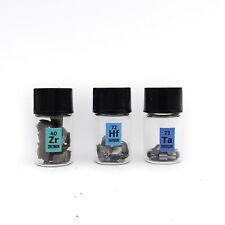 5 Grammes Chaque Hafnium Tantale Zirconium Métal 99,95% + Pur Élément