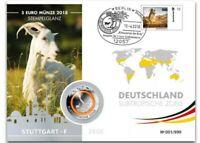Numisbrief Planet Erde 5 Euro Polymer Münze Deutschland 2018 Subtropische Zone