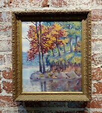 Simon Michael -Bent of the Brazos,Texas State Park c.1942 -Oil painting