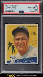 1934 Goudey Lou Gehrig #37 PSA AUTH