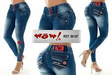 Women wow pantalon levanta cola butt lift  jeans push up colombian size 4/5usa