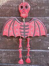 Drôle de bois mort chauve-souris mobile carillon éolien figure 37 cm home/garden decor fait main