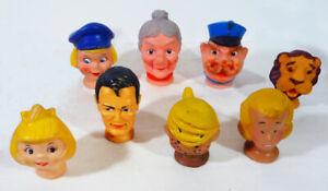 Vintage SET of 8 PUPPET HEADS (1960's) SUPERMAN Dennis the Menace JUDY JETSON