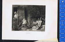 CACHE-CACHE, Game of Hide and Seek by Fragonard- Etching 1873 - Wilson
