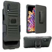 Magnet Cover for Samsung Galaxy XCover Pro Case with Glass Holster Belt Clip