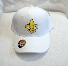 Fluer De Lis, White & Gold, Polyester Ball Cap