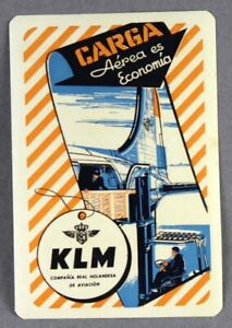 KLM ROYAL DUTCH AIRLINES CARGA VINTAGE ORIGINAL AIRLINE LUGGAGE LABEL BAGGAGE