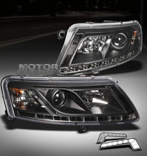 2005-2008 AUDI A6 LED PROJECTOR HEAD LIGHT LAMP BLACK W/DRL KIT SIGNAL 2006 2007