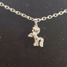 Silver Plated My Little Pony Style Horse Necklace - USA Seller-Fast Shipping