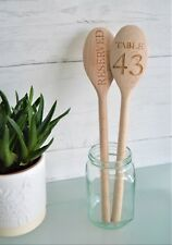 Personalised Engraved Wooden Spoon - Table Number Design for Bars, Restaurants