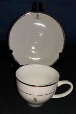 A White & Gold Commemorative Queen Elizabeth II Golden Jubilee Cup and Saucer