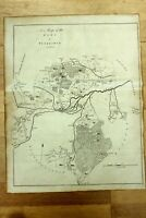 Antique Map Lowy of Tunbridge Southborough Hadlow Kent c.1780 by E Hasted