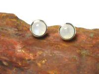 MOONSTONE   Sterling  Silver  925  Gemstone  Earrings / EAR  STUDS  -  7 mm