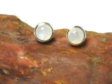 MOONSTONE   Sterling  Silver  925  Gemstone  Earrings / EAR  STUDS  -  7 mm