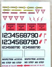 Aircraft stenciling decal - water-slide transfer - A5 sheet