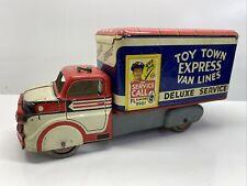 Vintage Luis Marx Co Toy Town Express Van Lines Deluxe Press Steel Truck