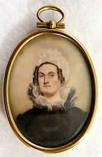 19thCentury, Miniature Portrait of a Woman with Great Painting Technique