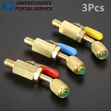 3X Charging Hoses A/C HVAC R134a R12 R410a Refrigerant Operation Shut-off Valve