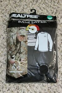 "NEW Realtree Black Top Base Layer Size XL (46""-48"") Warm Shirt Men's"