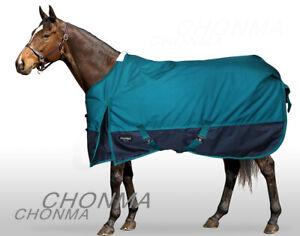 6'3 1680D 300G Fill Waterproof Winter Standar Neck Green Turnout Horse Rugs