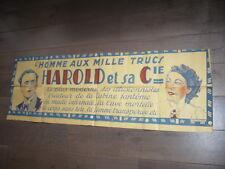 AFFICHE MAGIE PRESTIDIGITATION 1900 HAROLD L'HOMME AUX MILLE TRUCS