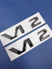 2 CHROME * V12 * BADGES AMG S65 Aston Martin DBS Vanatge Diablo SV Ferrari 456