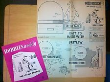 CRAFT PLAN FOR THREE NOVELTY DESK ITEMS LETTER RACK THERMOMETER & PECIL SHARPENE