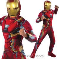 CK674 iron Man Civil War Captain America Hero Avengers Fancy Dress Boys Costume
