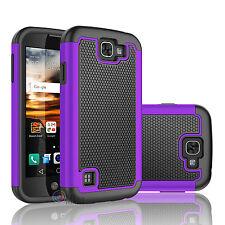 LG Optimus Zone 3 / Rebel LTE / K4 / LS450 / K3 Phone Hybrid Rubber Case Cover