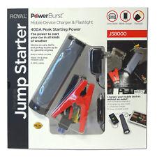 400 Amp Portable Auto Car Battery Jump Starter Power USB Charger LED Flashlight