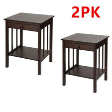 Sortwise® 2 PCS Night Stand 1 Tier 1 Drawer Bedside End Table Organizer Bedroom