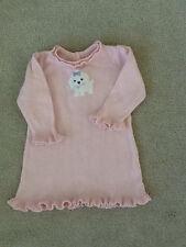 GYMBOREE~PUPPY PRINCESS PINK L/S RUFFLED SWEATER DRESS~sz.6-12 mos.