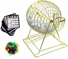 PROFESSIONAL HUGE BINGO GAME SET PING PONG BALLS spinning cage markers cards new