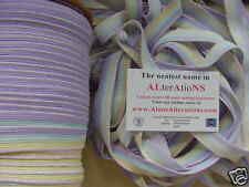 10 metres PRETTY PINK YELL BLUE LILAC 18mm LACE elastic