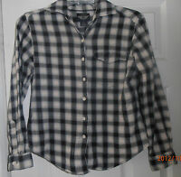 Plaid Flannel Shirt Size Junior Petite Small Brand Dockers Modest EUC