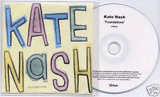 KATE NASH Foundations UK numbered promo test CD