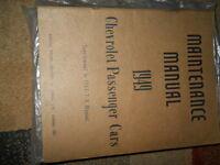 1946 1947 1948 1949  CHEVY CAR Service Shop Repair Manual SUPPLEMENT CDN