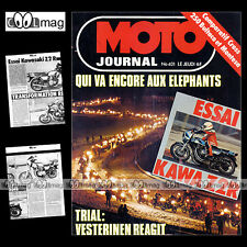 MOTO JOURNAL N°401 BMW 800 GS ENDURO R80 KAWASAKI Z2R JEAN-JACQUES BRUNO '79