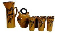 servizio in ceramica gladys Vallauris design claude paci anni 60 vintage